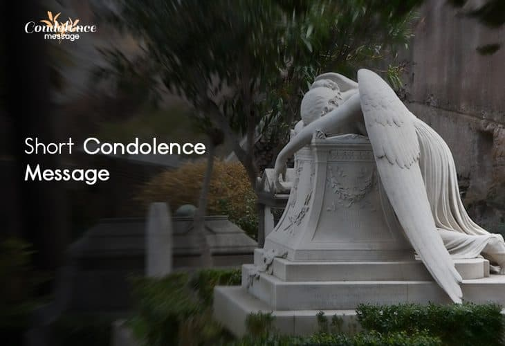 Share caring words of short condolence message