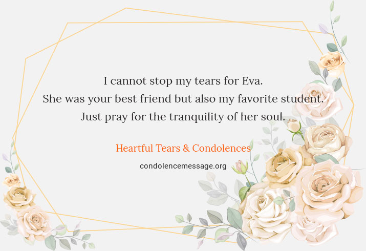 sympathy card for student
