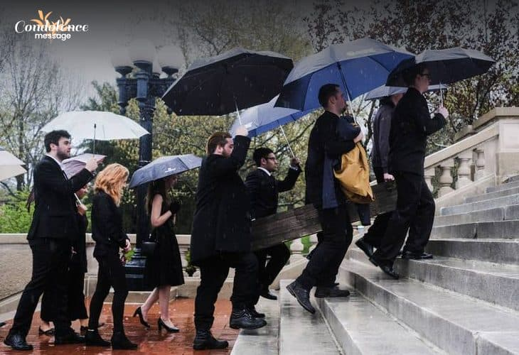 What should you wear at a funeral during rainy season