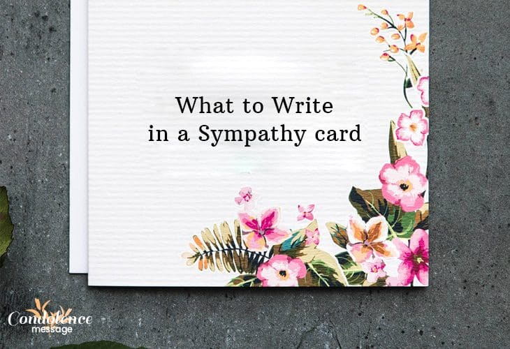 Share affectionate sympathy card messages with letter