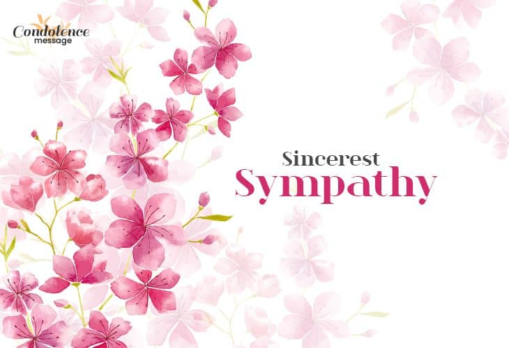 Send heartfelt sympathy messages to the people who lost a loved one